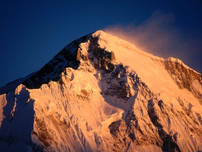 Sunrise, Cho Oyu, Khumbu Region, Nepal