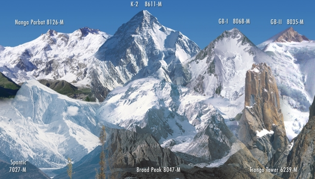 Himalaya-Broad Peak-Nanga Parbat-K 2-Gasherbrum-Trango Tower-Spantic